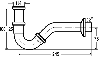 Сифон трубный для биде 1 1/4 Viega (103781)