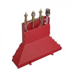 Скрытая часть на четыре отверстия Hansgrohe (13444180) для установки смесителя на край ванны