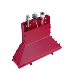 Скрытая часть на три отверстия Hansgrohe (13437180) для установки смесителя на край ванны