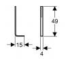 Пара коротких стоек для крепежа в пол инсталляции GEBERIT KOMBIFIX 457.888.26.1