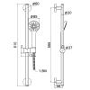 Душевой гарнитур IMPRESE (6008501), 600мм