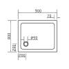Поддон прямоугольный Eger SMC, white 80х90х3,5см 599-9080S