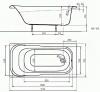 Ванна акриловая Kolo SENSA 150x70см XWP355000N