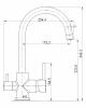 Смеситель  для кухни Imprese DAICY-U черный (55009-UB)