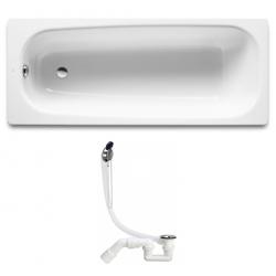 Ванна чугунная Roca CONTINENTAL с сифоном Simplex, 160x70см A21291200R+311537