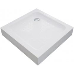 Поддон квадратный Eger VI`Z (599-005-80) white 80*80*15 см