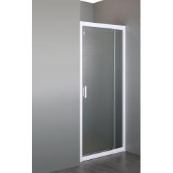 """Дверь в нишу распашная Eger  70*80*185 см, профиль белый регулируемый, стекло """"Zuzmara"""" 5мм 599-111"""