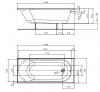 Ванна акриловая Kolo OPAL PLUS 160x70см XWP136000N