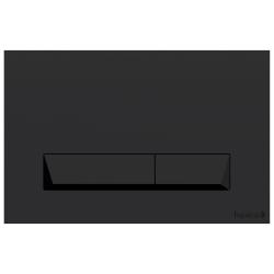 Клавиша смыва IMPRESE  PAN Laska Black Soft Touch (i8040B)