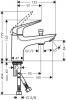 Смеситель на борт ванны Hansgrohe Novus с переключателем на душ 71321000