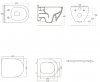 Унитаз подвесной с функцией биде VOLLE OLIVA Rimless (13-45-165WB)