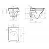 Унитаз подвесной VOLLE LEON безободковый с сидением Slim (13-11-160)