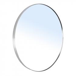 Зеркало для ванной комнаты VOLLE (16-06-999) 600мм на шлифованной нержавеющей раме, с контурной белой подсветкой