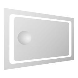 Зеркало для ванной комнаты VOLLE (16-55-558) 550*800мм со светодиодной подсветкой и встроенным зеркалом с увеличением 3Х