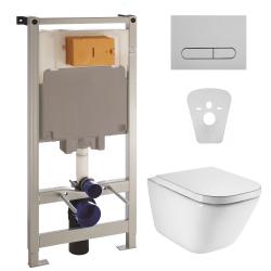 Комплект Roca унитаз GAP с сиденьем и инсталляция VOLLE Master (A34H47C000+141515)