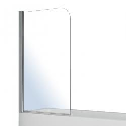 Шторка для ванн односекционная VOLLE (10-11-100), хром 800х1400