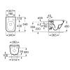 Комплект ROCA унитаз подвесной GAP Rimless и инсталляция VIEGA Standart (A34H470000+673192)