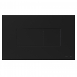Кнопка смыва VOLLE NEO черная soft-touch (221818)