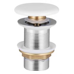 Донный клапан VOLLE click-clack c белой керамической крышкой (90-00-77W)