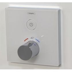Термостат для одного потребителя внешняя часть Hansgrohe ShowerSelect (15737400), стеклянный, СМ, белый/хром