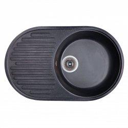 Кухонная мойка Fosto 74x46 SGA-420, черная (14020)