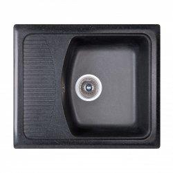 Кухонная мойка Fosto 58x50 SGA-420, черная (14022)