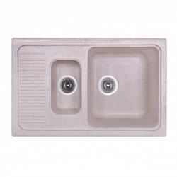Кухонная мойка двойная Fosto 77x49 SGA-800 светло-бежевая (14747)