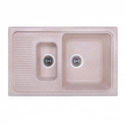Кухонная мойка двойная Fosto 77x49 SGA-806, коричневая (14748)