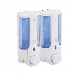 Дозатор для жидкого мыла двойной Lidz (PLA) 120.01.02, 760ml