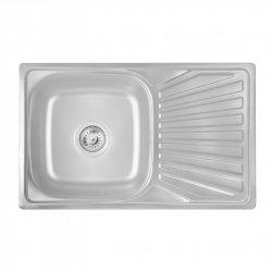 Кухонная Мойка Lidz 7848 0,8мм Satin из нержавеющей стали