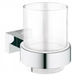 Стакан с держателем Grohe Essentials Cube (40755001)