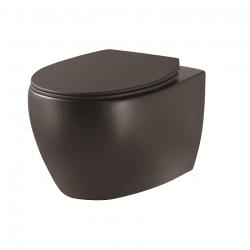 Унитаз подвесной DEVIT Aqua, безободковый черный матовый (3020155B)