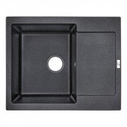 Кухонная мойка Lidz (BLA-03) 625x500/200 черная