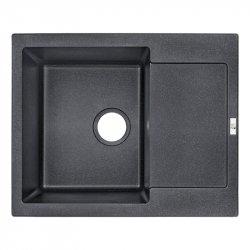 Кухонная мойка Lidz (BLM-14) 625x500/200 черная