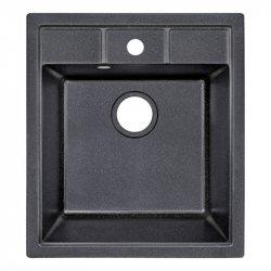 Кухонная мойка Lidz (BLM-14) 460х515/200 черная