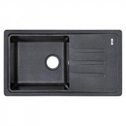 Кухонная мойка Lidz (BLM-14) 780x435/200 черная