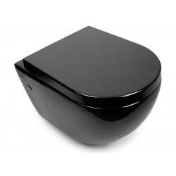 Унитаз подвесной NEWARC Modern Rimless черный с сиденьем (3823B New)