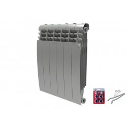 Радиатор отопления Royal Thermo BiLiner 500 new/Silver Satin - 4 секций