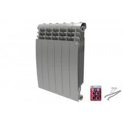 Радиатор отопления Royal Thermo BiLiner 500 Silver Satin - 4 секций (НС-1175555)