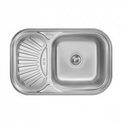 Кухонная мойка Imperial HQ-TF 02 0,8 180мм decor из нержавеющей стали (7826)