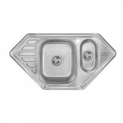 Кухонная мойка двойная Imperial 9550-С 0,8 180мм decor из нержавеющей стали (7832)