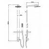 Душевая панель Q-Tap 1103 CRM (9651)