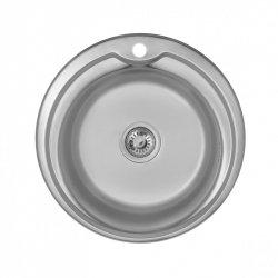 Кухонная мойка Imperial 490-A 0,6 180мм polish из нержавеющей стали (8887)
