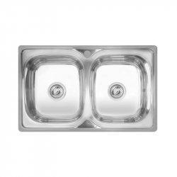 Кухонная мойка двойная Imperial 401 7948 Polish из нержавеющей стали (8416)