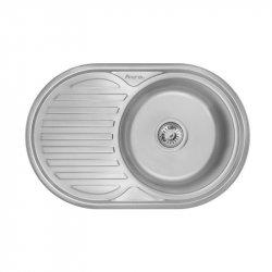 Кухонная мойка Imperial 7750 0,6 Micro Decor из нержавеющей стали (9059)