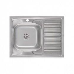 Кухонная мойка Imperial 6080-L 0,8 180мм satin из нержавеющей стали (7854)
