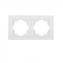 Рамка 2-местная Enzo белая (EH-2117)