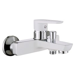 Смеситель для ванны Imprese BRECLAV белый хром (10245W)