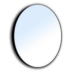 Зеркало для ванной комнаты VOLLE 600мм на стальной крашенной раме, черного цвета (16-06-905)